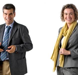 Ainhoa Zatarain y Gonzalo Serrats